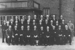 Wheatley Hill Miners Welfare Bowls Club Officials and Committee Winners of the Durham Coast League, 1937.